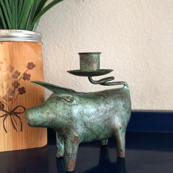 Pig Kitchen Decor | Farmhouse Kitchen Decor Pig Candle Holder